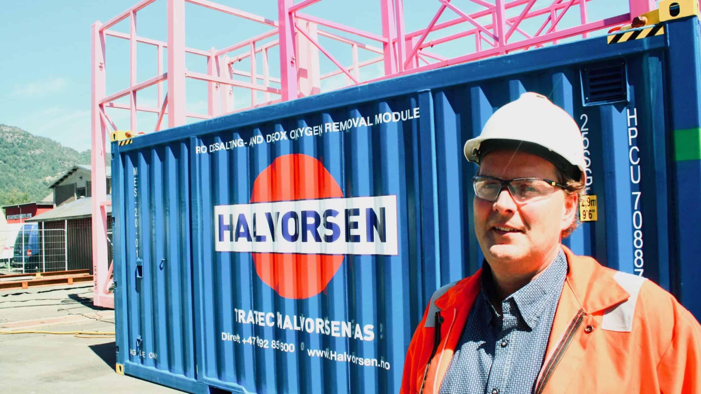 Den første mobile vannfabrikken klar for Nordsjøen